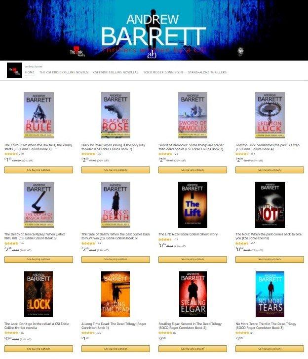 Amazon Store Andrew Barrett