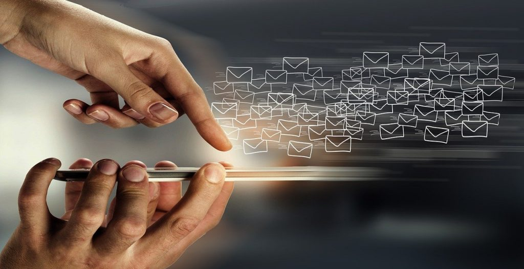 Image of emails being sent